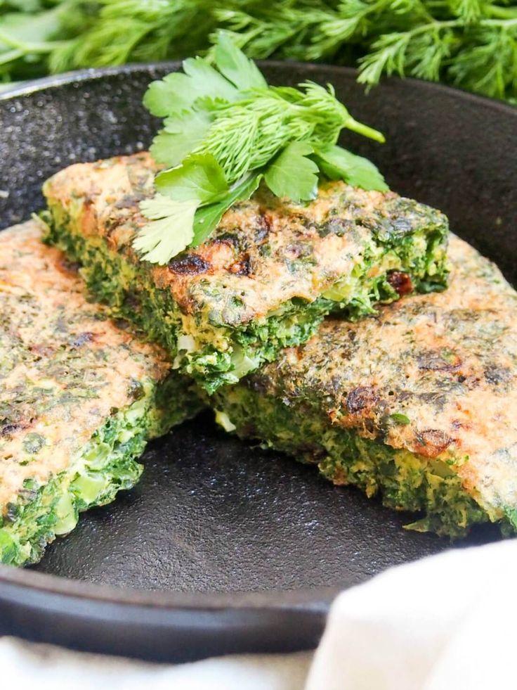 kuku sabzi - Persian herb fritatta
