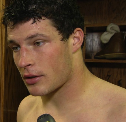 Luke Kuechly with no shirt on! He's so sexy I'm about to throw up (in a good way).