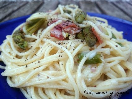 La #Receta de los #Espaguetis con #Bacon (#Tocino) y #Espárragos en la Comunidad de #Google+
