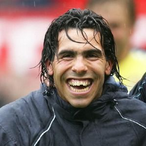 Carlitos Tevez. He's on on strike. Ironic, because he looks like he was struck with the ugly stick.