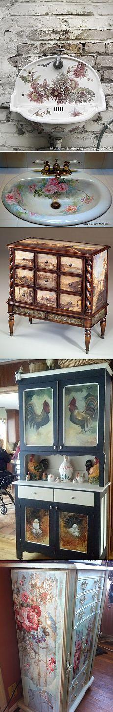 Декупаж и роспись на мебели