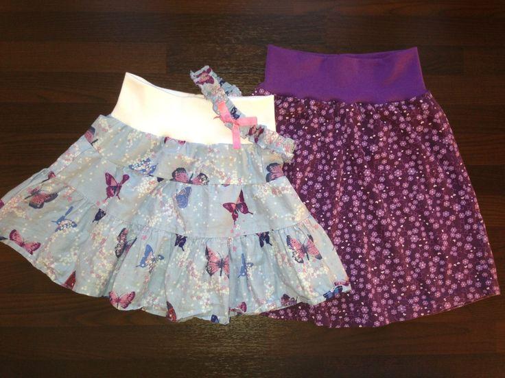 To for små kjoler ble til to passelige skjørt, pluss et matchende hårbånd