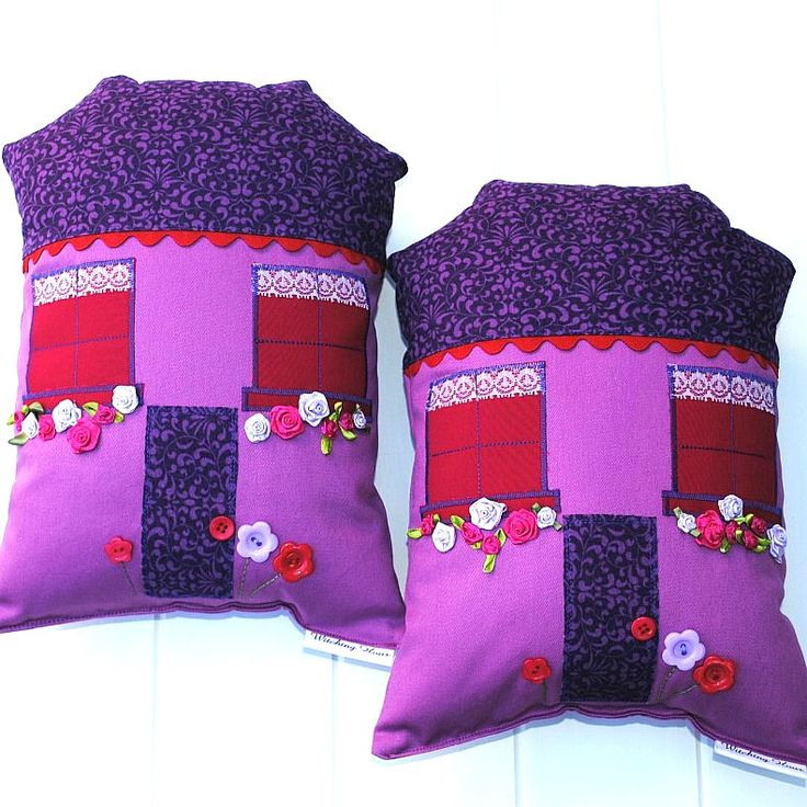 Decorative house cushions available at www.madeit.com.au/WitchingHourBags