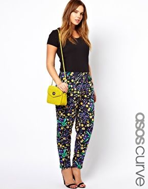 ASOS CURVE Peg Trouser In Floral Print.   Love These!!!!!!