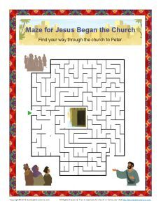 Jesus Began the Church Maze The