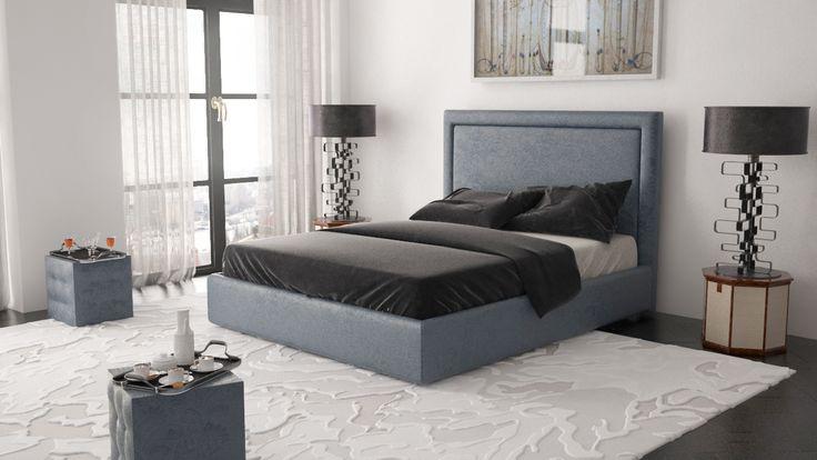 Кровать Future сине-серая