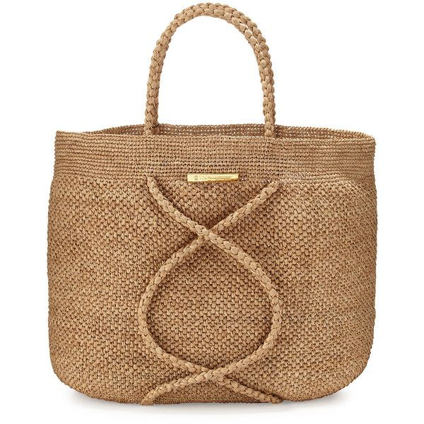 Vix X Straw Beach Bag ($184) ❤ liked on Polyvore featuring bags, handbags, tote bags, handbags totes, natural, tote handbags, straw handbags, woven beach tote, man bag and handbags purses
