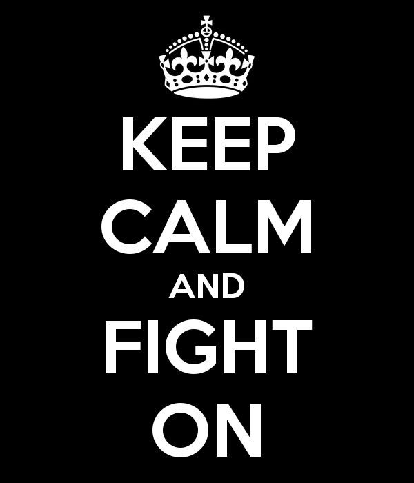 Keep Calm And Fight On!  www.knock-out.ro