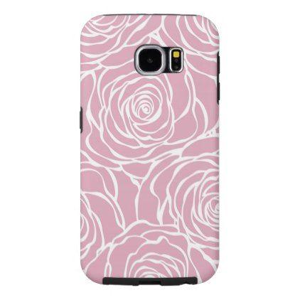 Peoniesfloralwhitepinkpatterngirlymodernbea Samsung Galaxy S6 Case - modern style idea design custom idea