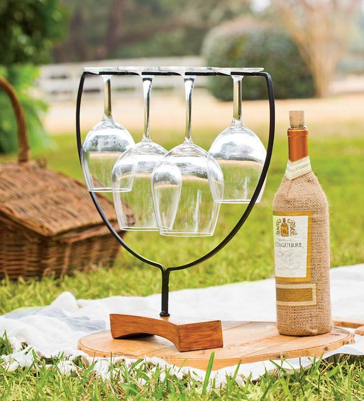 Wine Flight Wine Glass Holder and Server is the efficient way to present a flight of wine or to carry several glasses. Makes a great gift for your favorite wine lover or hostess.