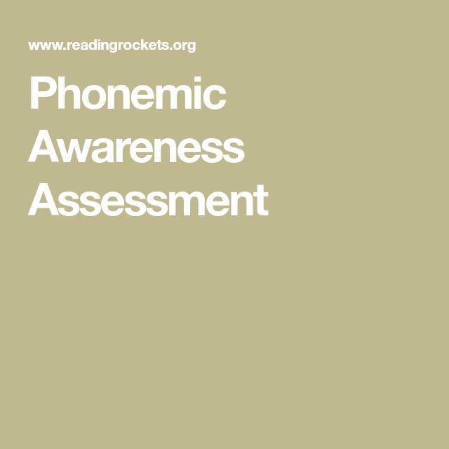 ASSESSMENT: Phonemic Awareness Assessment
