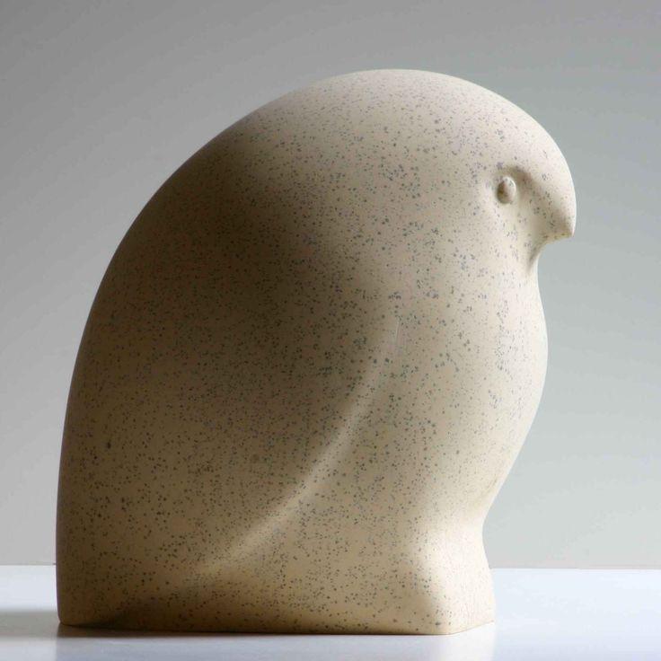 Little Owl carved into limestone Pinned by www.myowlbarn.com