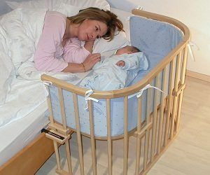 With this attachable baby cot your baby will literally be at arms length at all times. This cot is made from solid beach wood making it stable, durable and easy to clean.