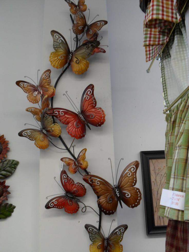 Metal Butterfly Wall Art, Over 3 Feet In Lengh $85.99
