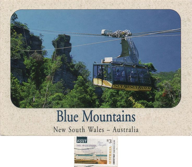AU-603868 (2018°69) - Arrived: 2018.04.03    ---    The Blue Mountains is a mountainous region and a mountain range located in New South Wales, Australia. The region borders on Sydney's metropolitan area, its foothills starting about 50 kilometres west of the state capital.