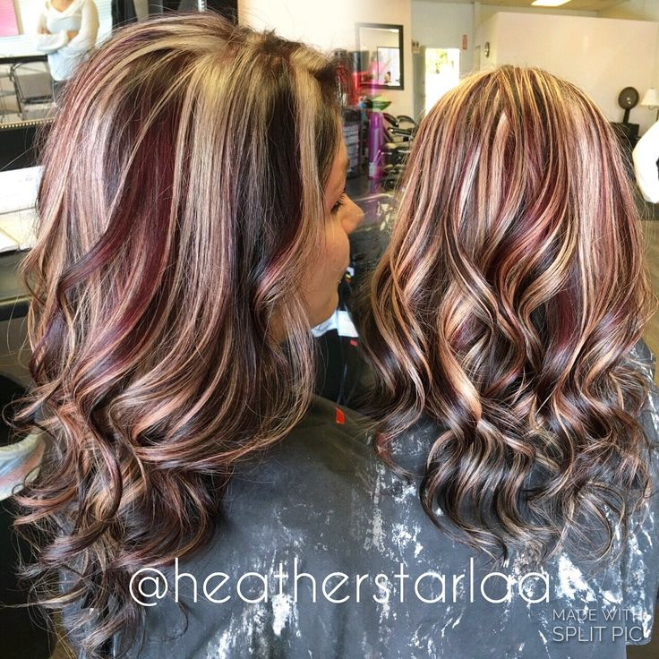 Best 25 burgundy hair highlights ideas on pinterest hair color blonde hair with red and brown highlights pictures 1000 ideas about burgundy hair highlights on urmus Images