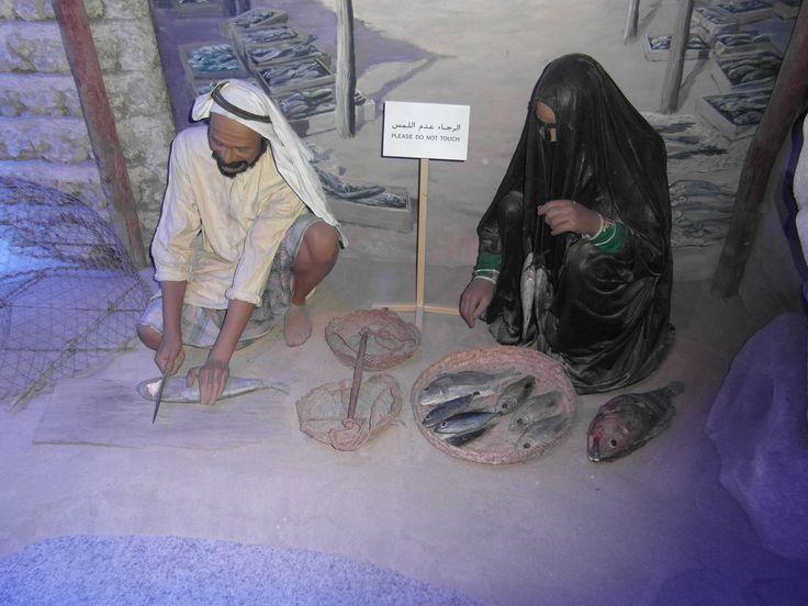 In het Dubai Museum krijg je te zien hoe de vissers vroeger leefde.
