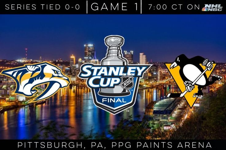 The day has finally come! Stanley Cup Final game One is Tonight, at 7:00 CT in Pittsburgh!! Penguins defend the Cup 4-2