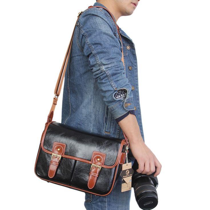 >> Click to Buy << 2016 New PU Leather Waterproof Vintage DSLR Camera Photo Bag Messenger Shoulder Bolsas De Camara for Canon Sony Nikon instax #Affiliate