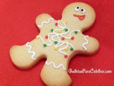 Receta de galletas de almendra para muñecos de navidad