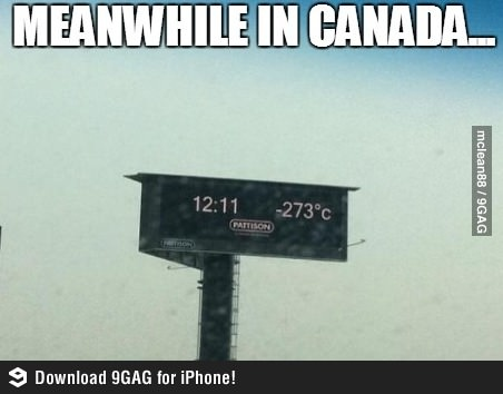Meanwhile in Canada- T-shirt weather...