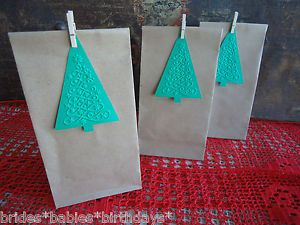 10-Brown-Kraft-Lolly-Bags-Christmas-Party-Lolly-Buffet-Loot-Bags-Tags-Peg-V6