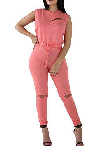 New Trending Bodysuits: Fixmatti Womens Summer Sleeveless Hollow out Long Jumpsuits Bodysuit Pink L. Fixmatti Women's Summer Sleeveless Hollow out Long Jumpsuits Bodysuit Pink L  Special Offer: $19.99  433 Reviews Note:Normal Size. Pls read the following size carefully Size S,M,L,XL Size S: bust 90cm(35.43″),waist 72cm(28.34″),hip 90cm(35.43″),length...