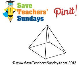 Square pyramid (transparent) - http://www.saveteacherssundays.com/maths/year-3/105/prisms-and-pyramids/ for more prisms and pyramids, prisms and pyramids worksheets, prisms and pyramids lesson plans, prisms and pyramids  powerpoints and other prisms and pyramids teaching resources #square pyramid, #pyramid, #shapes, #3D, #polyhedron, #maths, #math,  #teaching, #teachers, #teacher, #tutors, #tutor, #teach, #education, #learn, #learning, #primary, #elementary, #KS1, #KS2