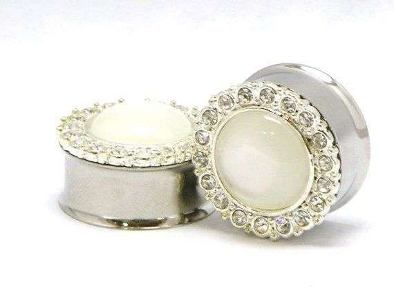 Wedding plugs and tunnels for stretched ears.