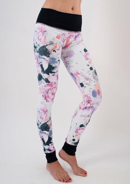 Jala Clothing SUP Yoga Leggings Asian Garden|www.downdogboutique.com