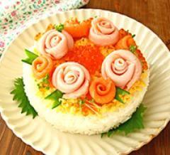 敬老の日スペシャルケーキ寿司