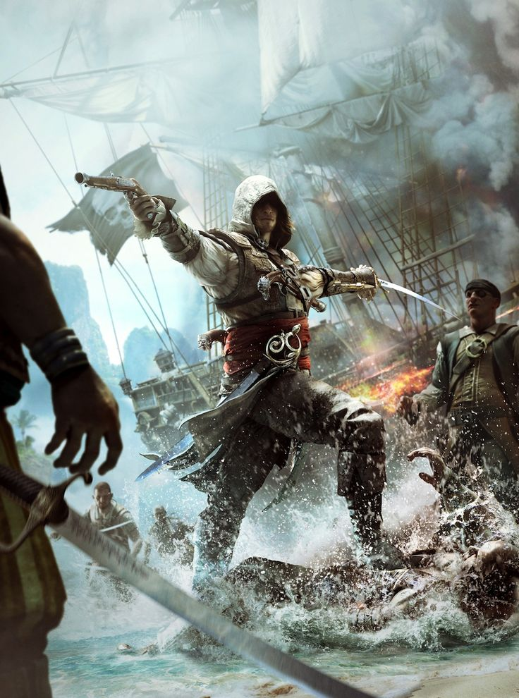 Assassins Creed IV: Black Flag Pirate Assassin Madness. Really amazing render for a really amazing game