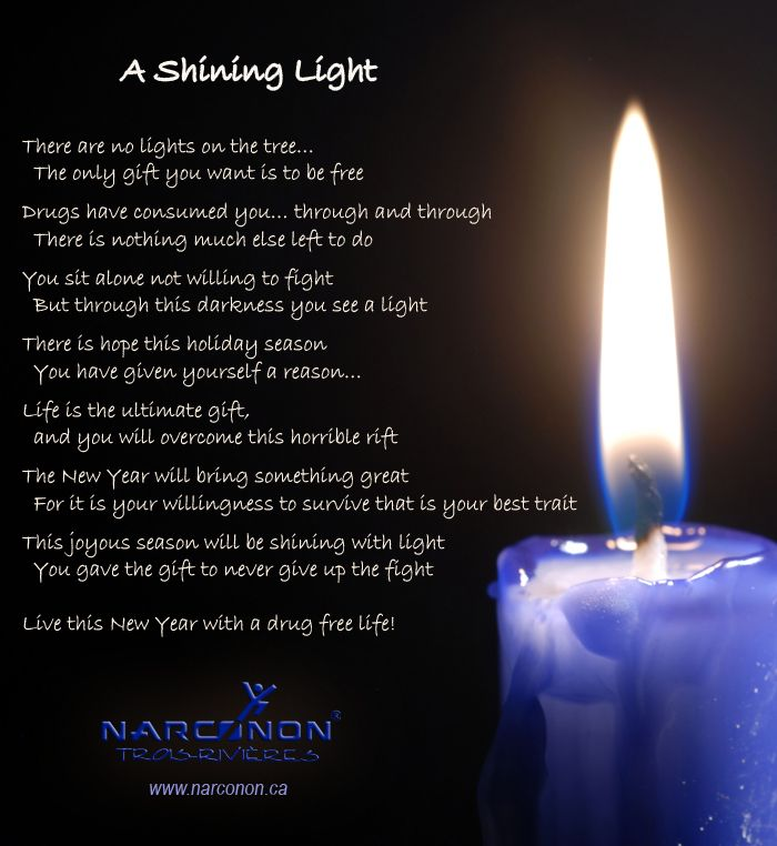 Drug Addiction Quotes: Shining Light Christmas Poem A Christmas