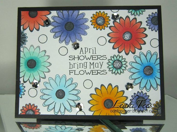 Love our April Showers set!  #joyclair #crafting #stamps