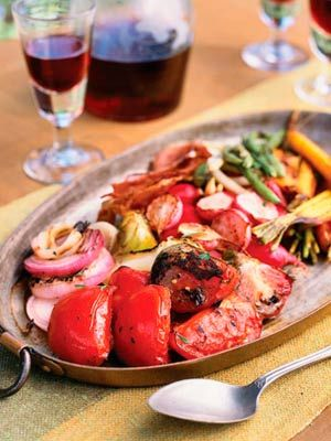 Vegetable Grill with Balsamic-Red Wine Glaze (177 calories)