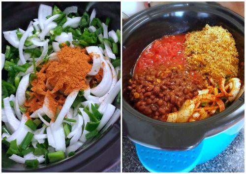 Vegetarian Taco Soup in the crock pot!