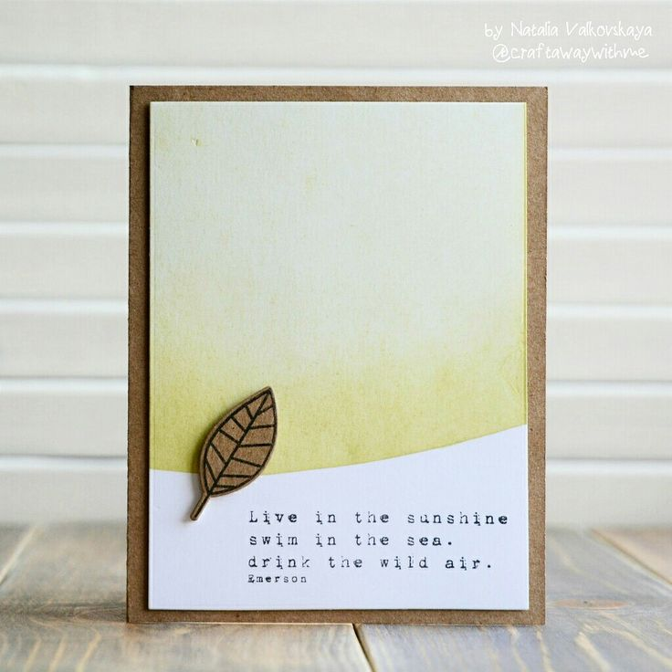 Card Making Ideas Nature Part - 28: CAS Card Using One With Nature Set #SSSFAVE