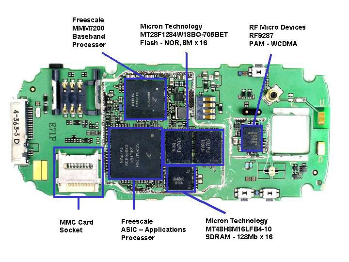 Mobile Phone  Main PCB Rear | Electronics Knowledge in