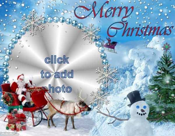 Merry Christmas Frame. Make Your Own Christmas Card For