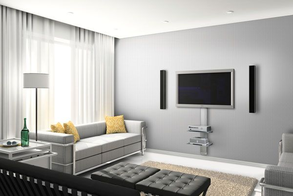 12 tv wall mount ideas for lovely modern living room tv for Family room tv wall ideas