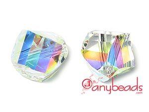 Crystal AB - Swarovski Crystal Elements 5020 Helix Bead 8mm  #Swarovski #crystalbead #crystal #5020 #bead #jewelrysupplies #anybeads