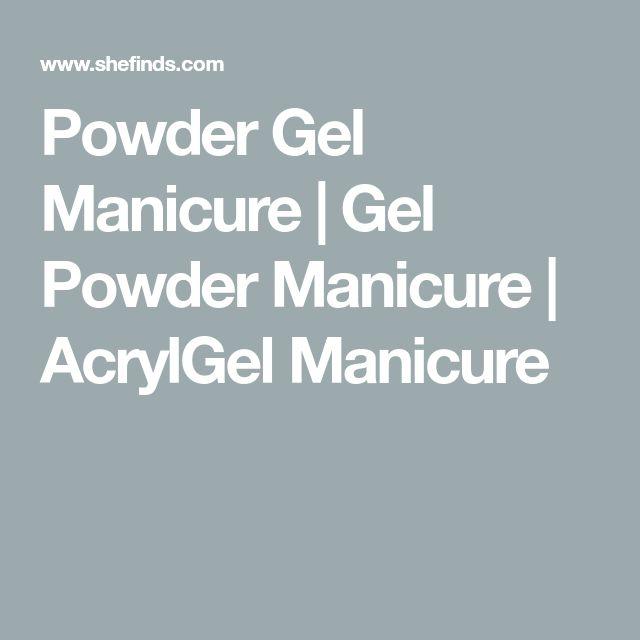 Powder Gel Manicure | Gel Powder Manicure | AcrylGel Manicure