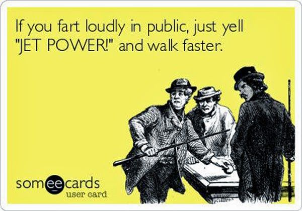 Seriously, kinda thought of you @Janel Equizi That you used to know bahahaha.. Not that you fart.. But it could happen