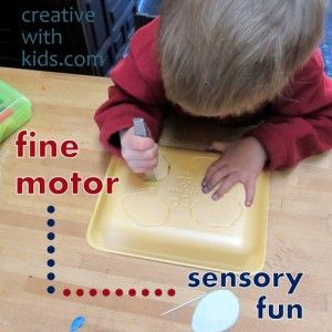 How to entertain a preschooler and toddler with nothin' but trash…#sensory activities: Sensory Activities, Meat Trays, Fine Motors Activities, Fine Motors Skills, Foam Plates, Toddlers Sensory, Sensory Plays, Kid, Foam Trays