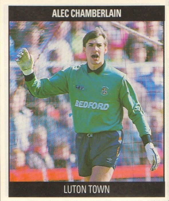 G5 Alec Chamberlain (Luton Town) - Born 22-6-64 (March). Clubs: Ipswich Town 1981-82, Colchester United 1982-87, Everton 1987-88, Luton Town 1988-. A regular in Colchester's goal for four seasons before moving to Everton in 1987. He joined Luton for £150,000.