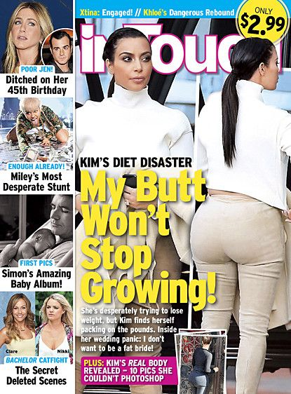 """Kim Kardashian Butt Out of Control; Star Unsure How to Handle Badonkage Ummm really ??? How about stop """"feeding it"""" & it might just be like other regular butts- lol the girl have a dumb bone lol"""