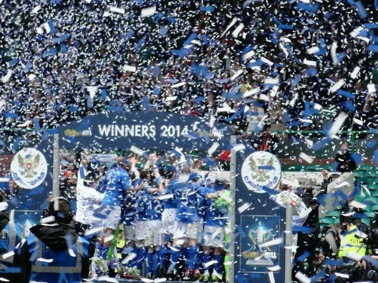 Scottish cup champions 2014 - St Johnstone celebrations