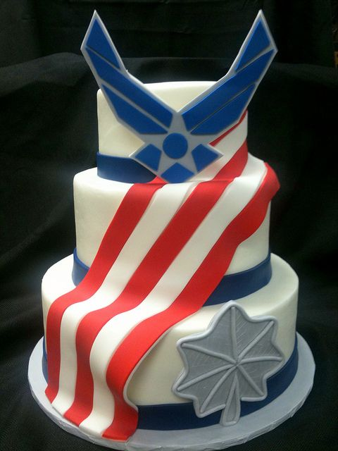 Air Force American Flag Cake by D'Pasteles Cake Shop in San Antonio, TX