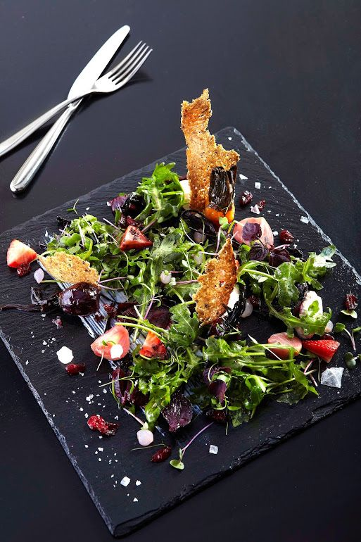 Extraordinary salad at Hilton Athens in Greece