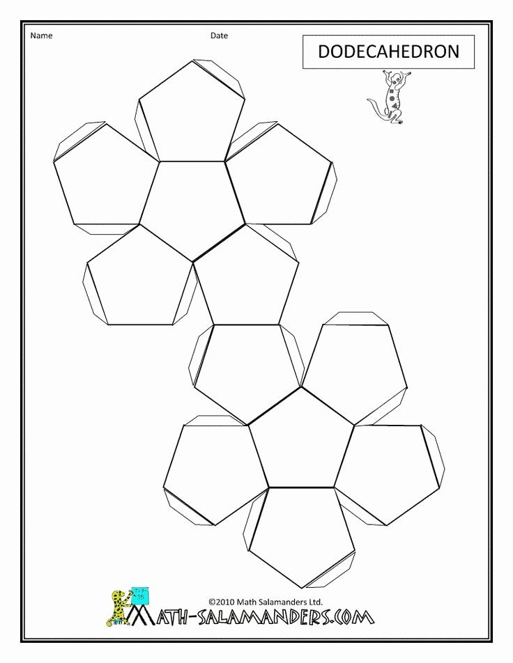 12 Sided Dice Template Beautiful the 25 Best Dodecahedron